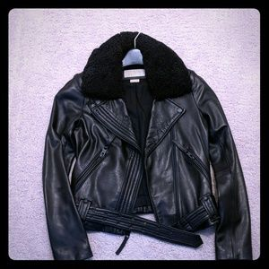 Michael Kors lamb leather Moto jacket